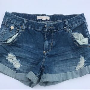 Dark Distressed jean shorts
